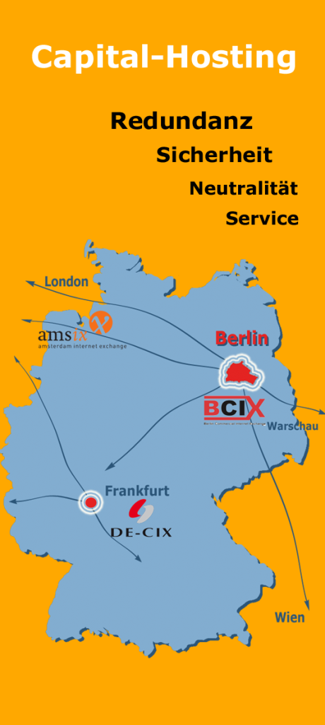 Connectivität des TIER4-DataCenters in Berlin